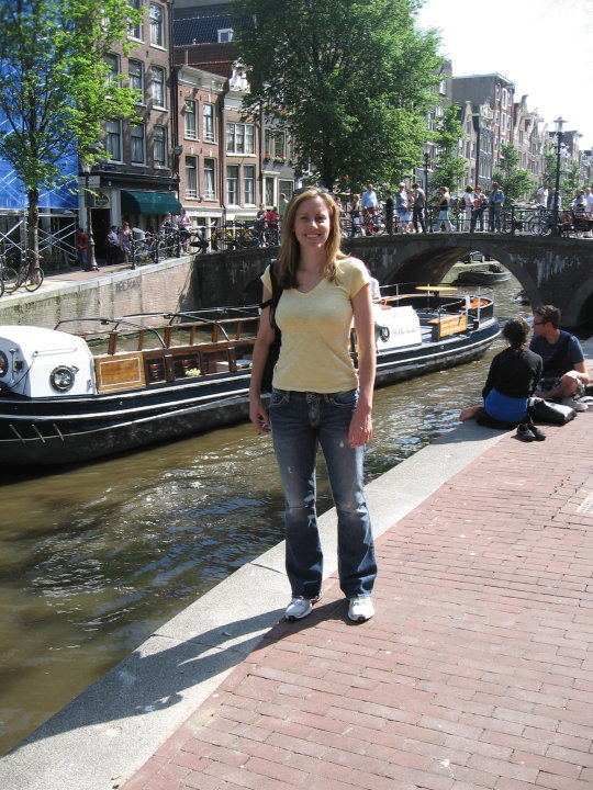Michelle Holm canals Amsterdam, Netherlands