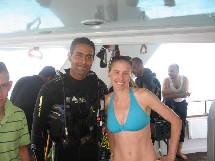 Michelle Holm scuba diving Sharm El Sheikh, Egypt