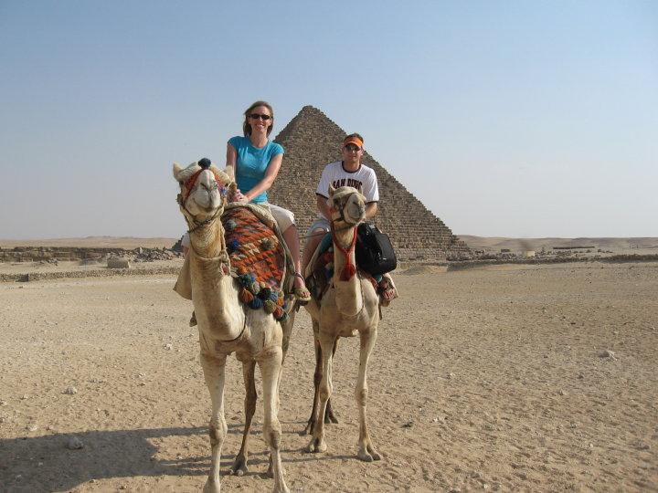 Michelle Holm Pyramids Cairo, Egypt