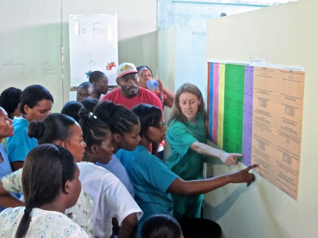 Michelle Holm in Haiti for Causes