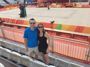 Michelle Holm at Olympic beach volleyball