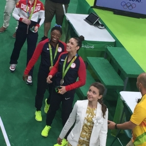Simone and Aly gold medals