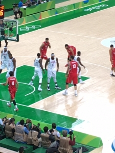 Olympic basketball action